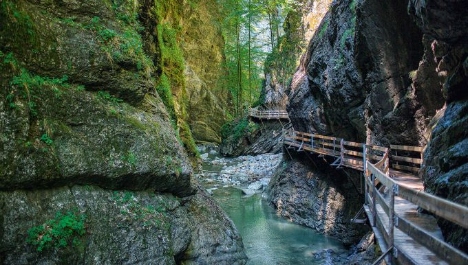 Rappenloch Gorge in Dornbirn